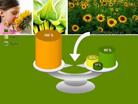 Sunflower Collage PowerPoint Template Slide 10