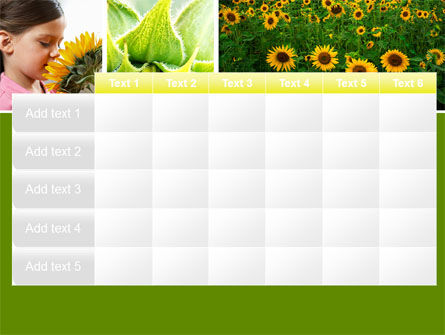 Sunflower Collage PowerPoint Template Slide 15