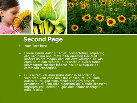 Sunflower Collage PowerPoint Template Slide 2