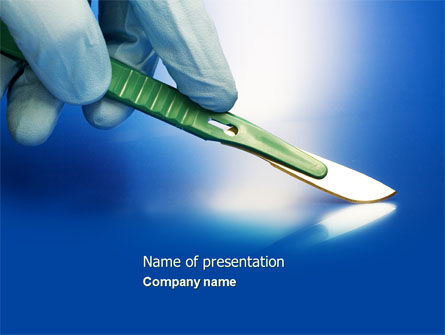Scalpel PowerPoint Template, 04589, Medical — PoweredTemplate.com