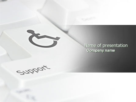 Medical: Cripple People Support PowerPoint Template #04593