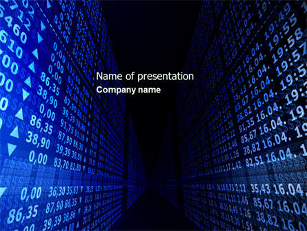 Rate Board PowerPoint Template, 04596, Financial/Accounting — PoweredTemplate.com