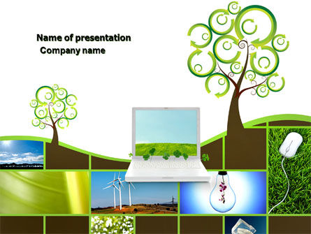 Green Solution PowerPoint Template, 04597, Nature & Environment — PoweredTemplate.com