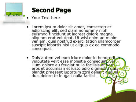 Green Solution PowerPoint Template, Slide 2, 04597, Nature & Environment — PoweredTemplate.com