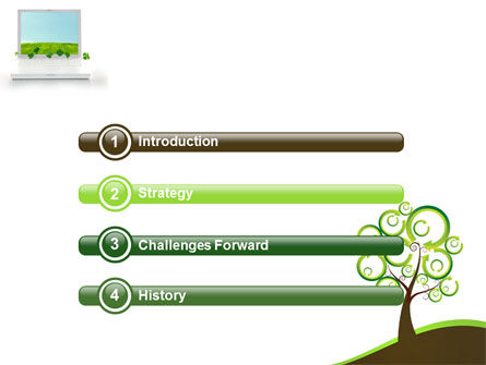 Green Solution PowerPoint Template, Slide 3, 04597, Nature & Environment — PoweredTemplate.com