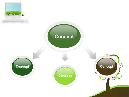 Green Solution PowerPoint Template, Slide 4, 04597, Nature & Environment — PoweredTemplate.com