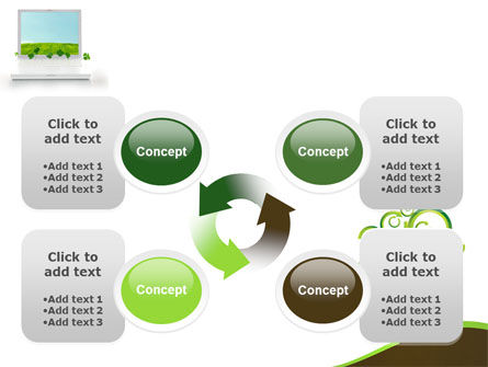 Green Solution PowerPoint Template Slide 9