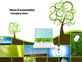 Nature & Environment: Green Solution PowerPoint Template #04597