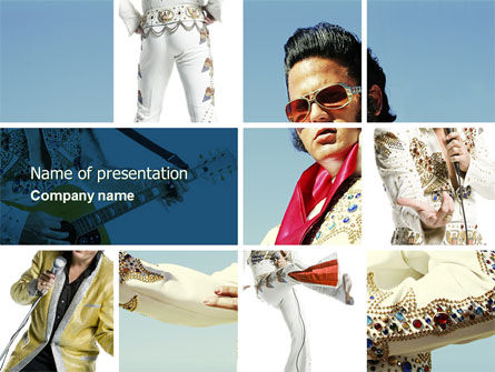 Elvis Presley PowerPoint Template, 04602, Art & Entertainment — PoweredTemplate.com
