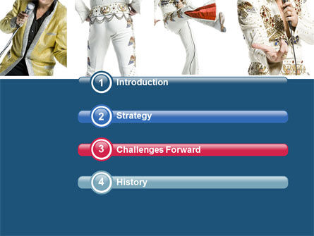 Elvis Presley PowerPoint Template, Slide 3, 04602, Art & Entertainment — PoweredTemplate.com