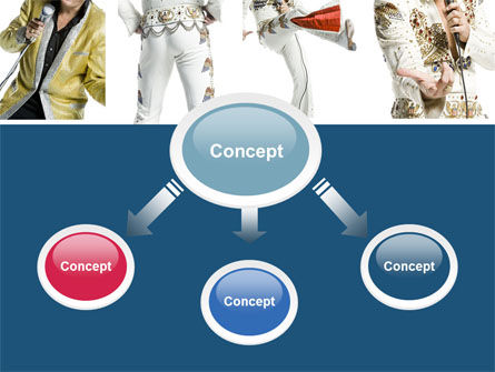 Elvis Presley PowerPoint Template, Slide 4, 04602, Art & Entertainment — PoweredTemplate.com