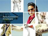Art & Entertainment: Elvis Presley PowerPoint Template #04602