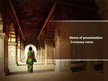 Hindu Temple PowerPoint Template, 04603, Art & Entertainment — PoweredTemplate.com
