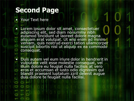 Matrix Code PowerPoint Template, Slide 2, 04604, Technology and Science — PoweredTemplate.com