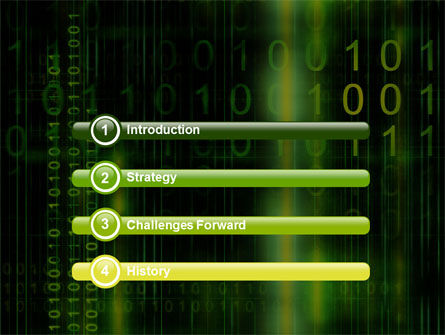 Matrix Code PowerPoint Template, Slide 3, 04604, Technology and Science — PoweredTemplate.com