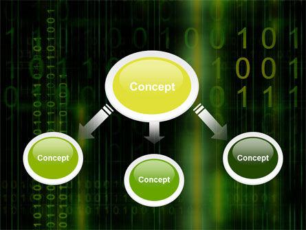 Matrix Code PowerPoint Template, Slide 4, 04604, Technology and Science — PoweredTemplate.com