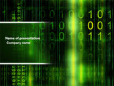 Technology and Science: Matrix Code PowerPoint Template #04604