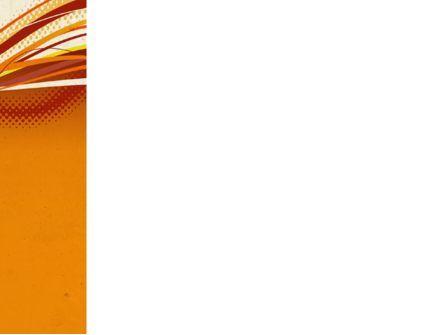Orange Lines PowerPoint Template, Slide 3, 04607, Abstract/Textures — PoweredTemplate.com
