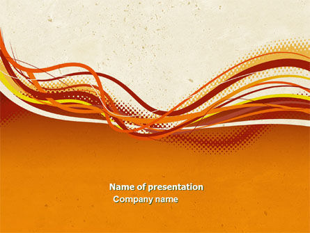 Orange Lines PowerPoint Template, 04607, Abstract/Textures — PoweredTemplate.com