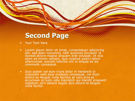 Orange Lines PowerPoint Template, Slide 2, 04607, Abstract/Textures — PoweredTemplate.com