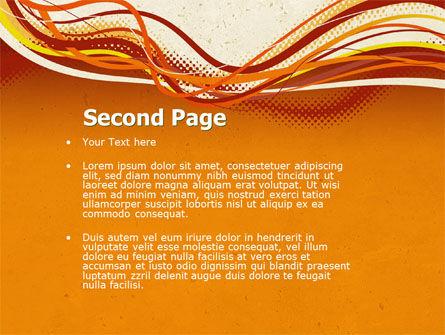 Orange Lines PowerPoint Template Slide 2