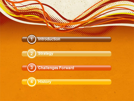 Orange Lines PowerPoint Template, Slide 3, 04607, Abstract/Textures — PoweredTemplate.com