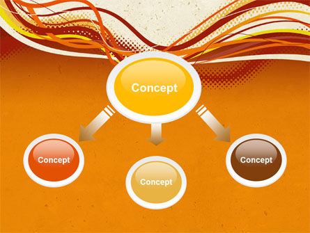 Orange Lines PowerPoint Template, Slide 4, 04607, Abstract/Textures — PoweredTemplate.com