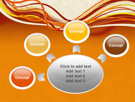 Orange Lines PowerPoint Template Slide 7