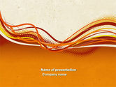 Abstract/Textures: Orange Lines PowerPoint Template #04607