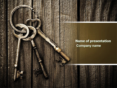 Education & Training: Keys PowerPoint Template #04609