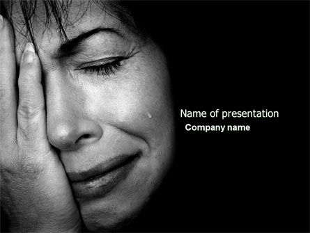 Grief PowerPoint Template, 04612, People — PoweredTemplate.com