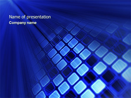 Digital Panel PowerPoint Template, 04613, Abstract/Textures — PoweredTemplate.com