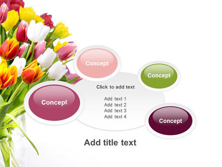 Tulips On A Purple Background PowerPoint Template Slide 16