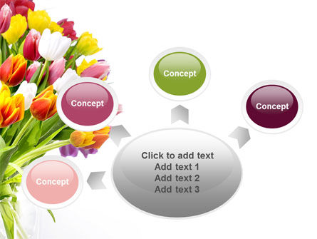 Tulips On A Purple Background PowerPoint Template Slide 7
