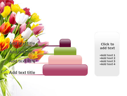 Tulips On A Purple Background PowerPoint Template Slide 8