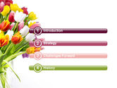 Tulips On A Purple Background PowerPoint Template#3