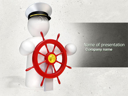 Business Concepts: Captain PowerPoint Template #04615