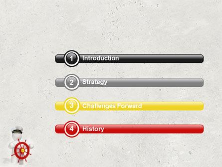 Captain PowerPoint Template, Slide 3, 04615, Business Concepts — PoweredTemplate.com