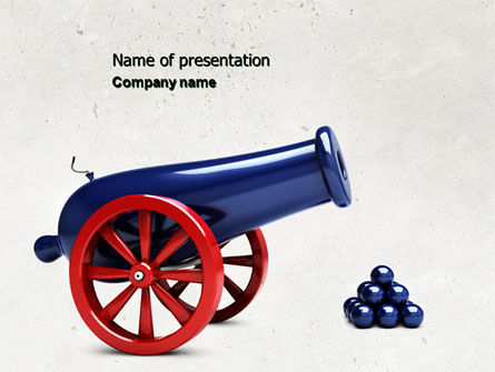 Military: Cannon PowerPoint Template #04618