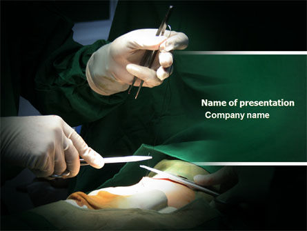 Surgical Incision PowerPoint Template, 04619, Medical — PoweredTemplate.com