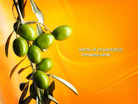 Olives PowerPoint Template, 04622, Agriculture — PoweredTemplate.com