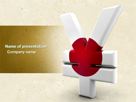 Yen Currency of Japan PowerPoint Template, 04627, Financial/Accounting — PoweredTemplate.com