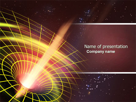 Technology and Science: Black Hole PowerPoint Template #04628