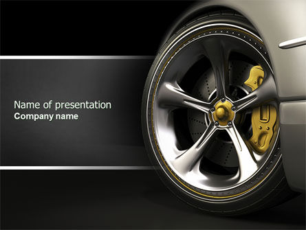 Cars and Transportation: Stuur PowerPoint Template #04629