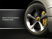 Cars and Transportation: Driving Wheel PowerPoint Template #04629