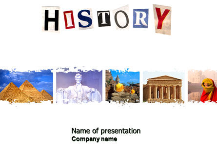 Education & Training: History Lesson PowerPoint Template #04630