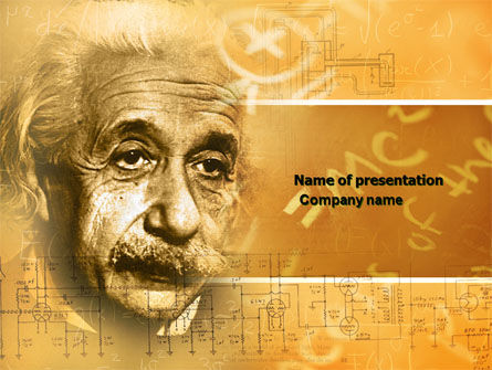 Einstein PowerPoint Template, 04631, People — PoweredTemplate.com