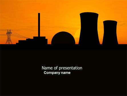 Nuclear Power Plant PowerPoint Template, 04632, Utilities/Industrial — PoweredTemplate.com