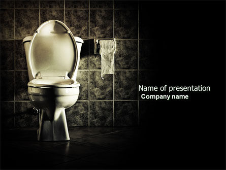 Careers/Industry: Toilet PowerPoint Template #04638