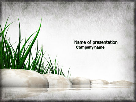Stones and Grass PowerPoint Template